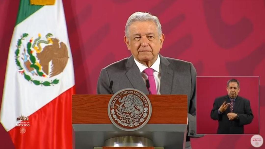 El presidente Andrés Manuel López Obrador durante la conferencia de prensa matutina