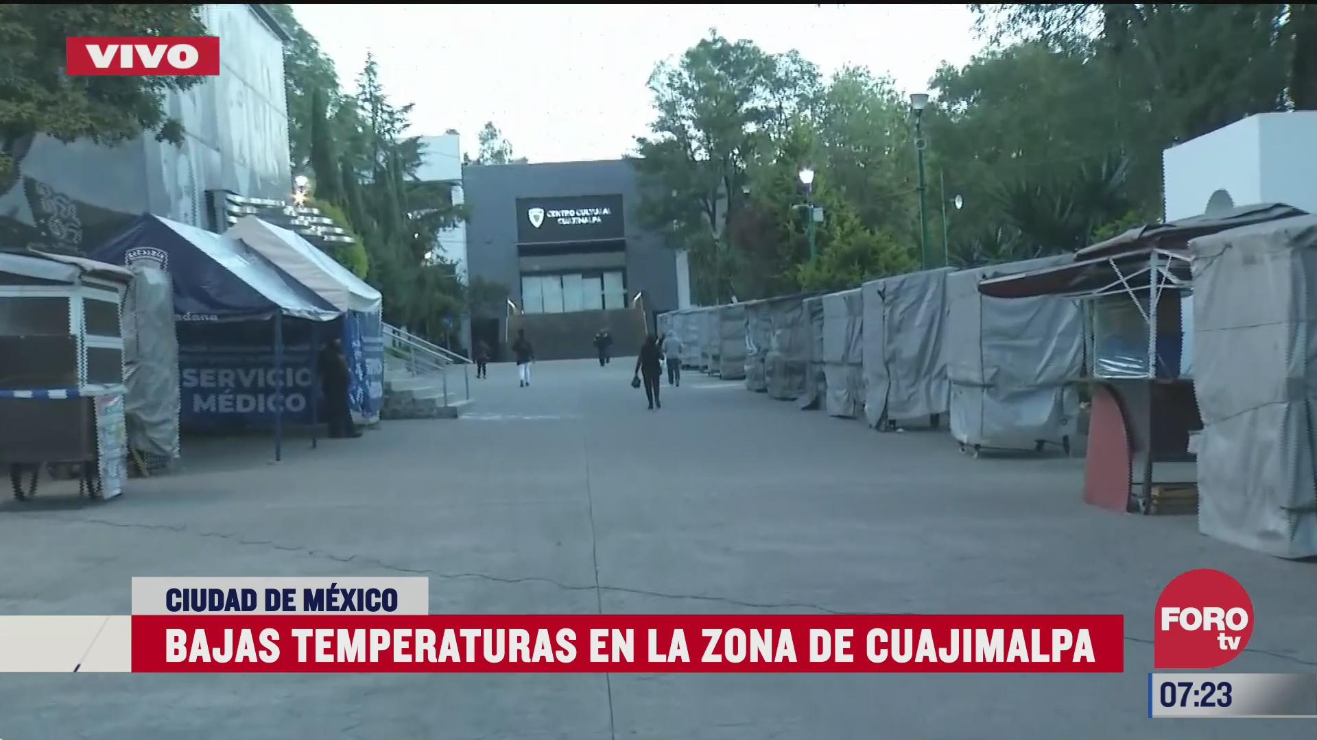 bajas temperaturas en la alcaldia cuajimalpa en la cdmx