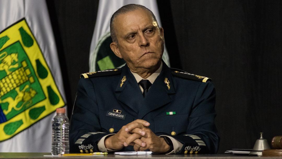 Fotografía que muestra al general Salvador Cienfuegos Zepeda, exsecretario de la Defensa Nacional.
