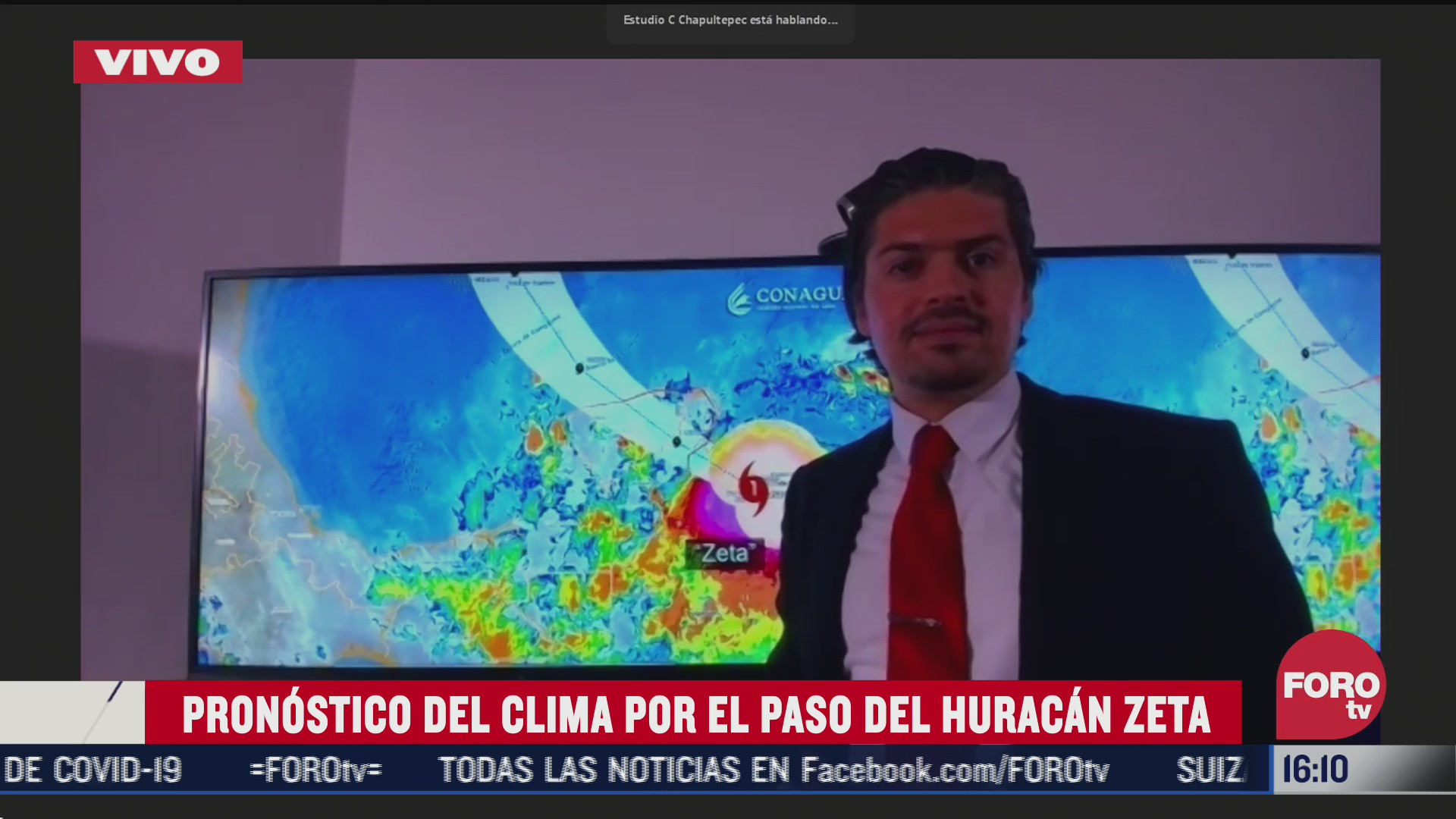 cual es la trayectoria prevista del huracan zeta