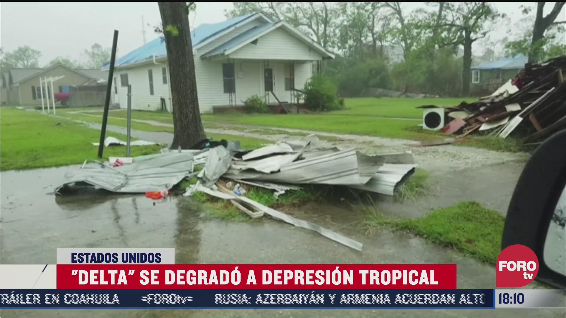 delta se degrada a depresion tropical
