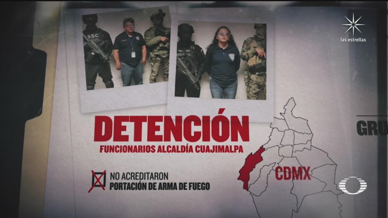 detienen a dos funcionarios de alcaldia cuajimalpa por vinculos con grupo delictivo