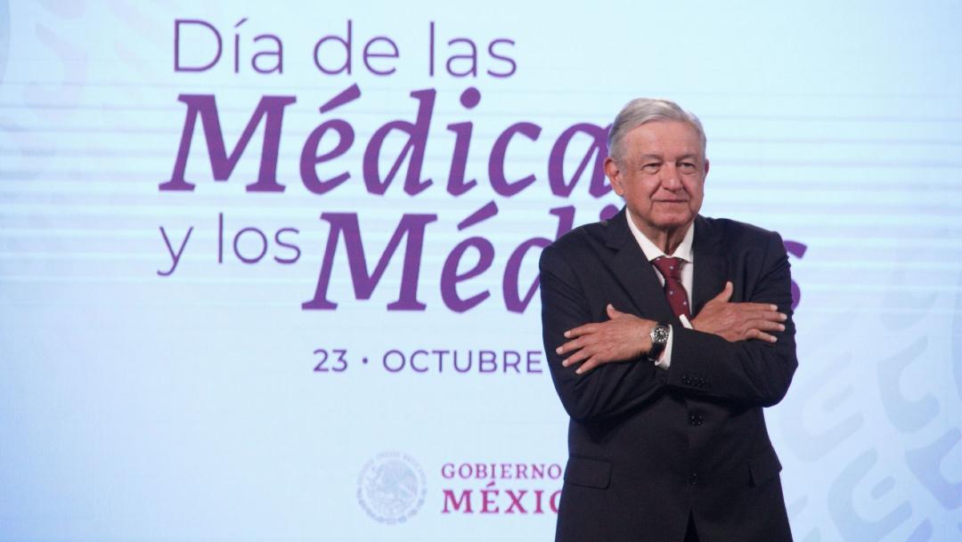 El presidente de México, Andrés Manuel López Obrador durante su conferencia de prensa matutina