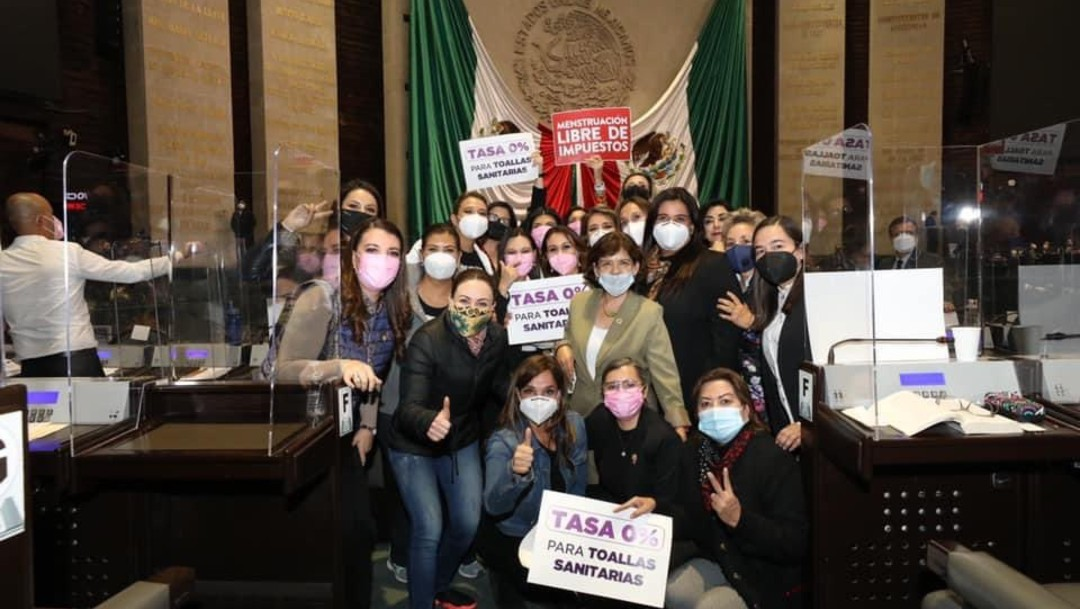 Diputadas piden eliminar IVA a productos de higiene menstrual
