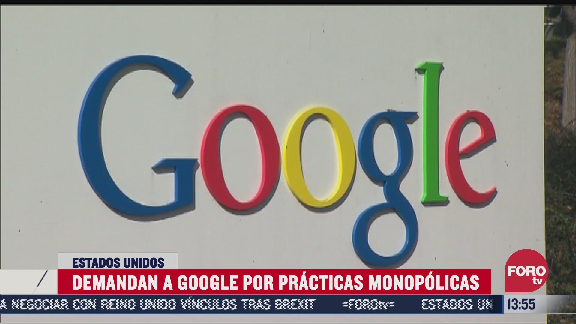 ee uu demanda a google por practicas monopolicas