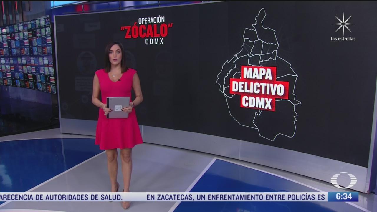 el mapa delictivo de la ciudad de mexico
