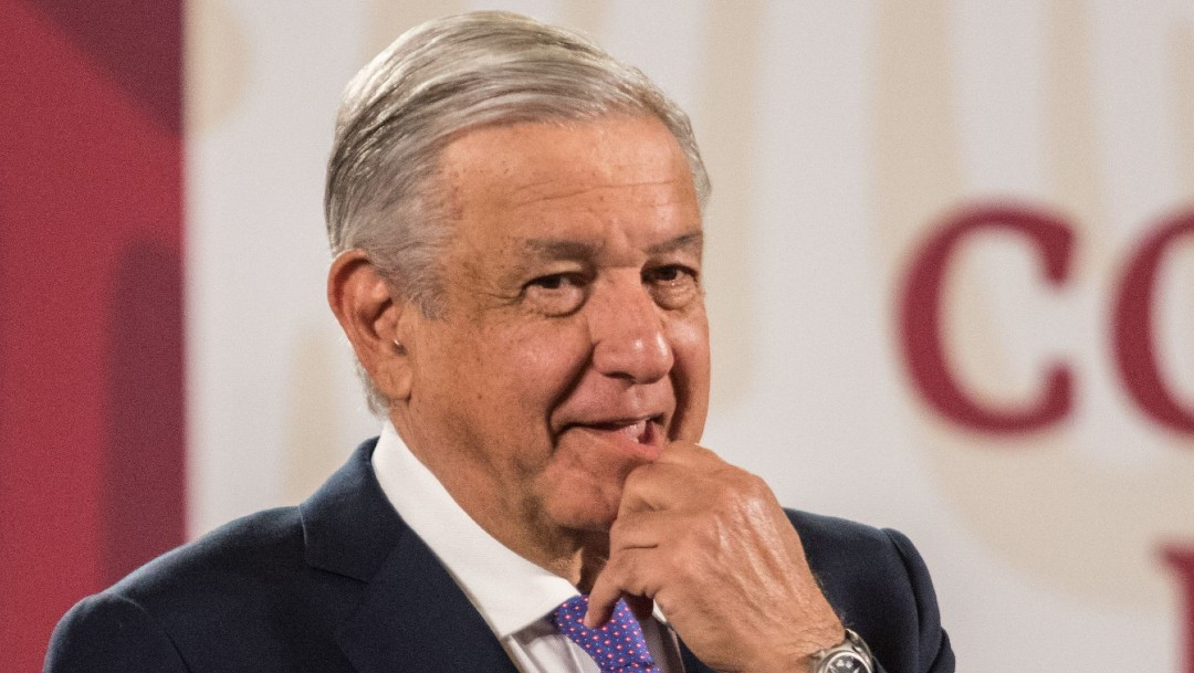 El presidente López Obrador en mañanera