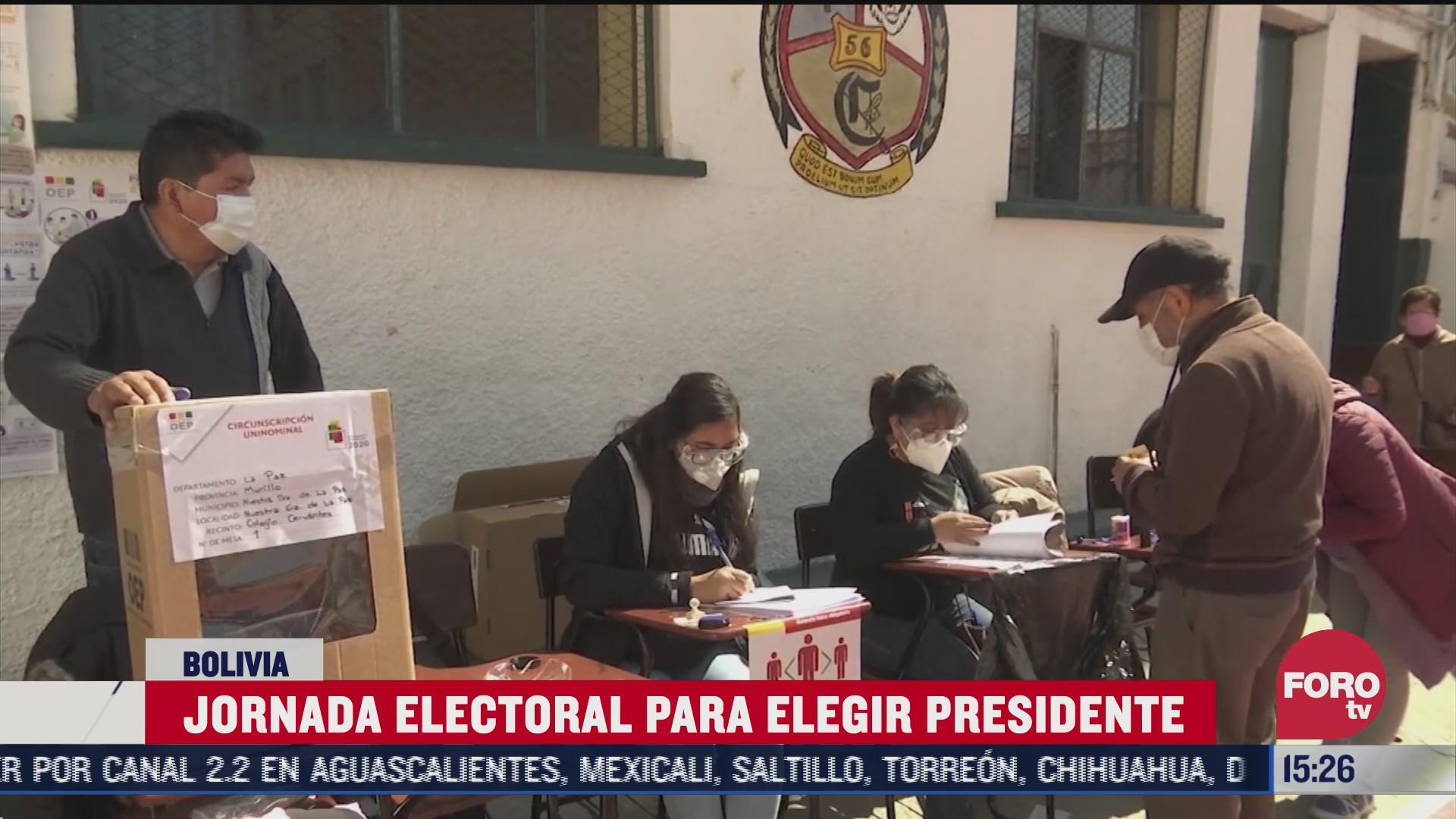 elecciones en bolivia se desarrollan con tranquilidad