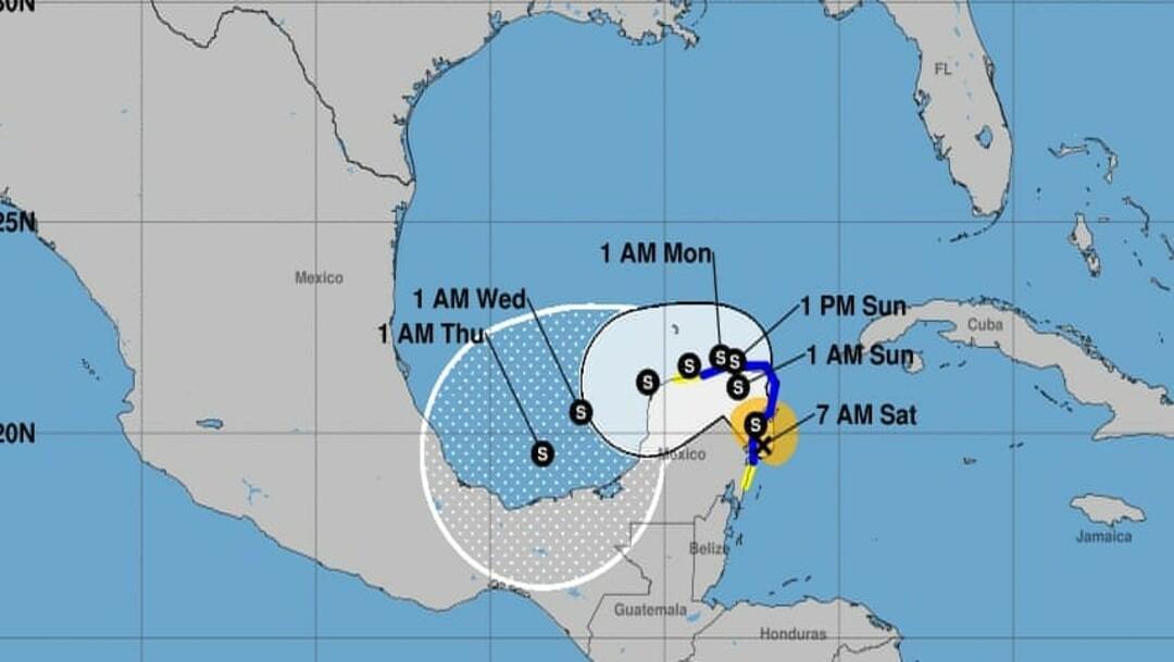 Tormenta tropical Gamma, Tulum, Quintana Roo, Lluvias