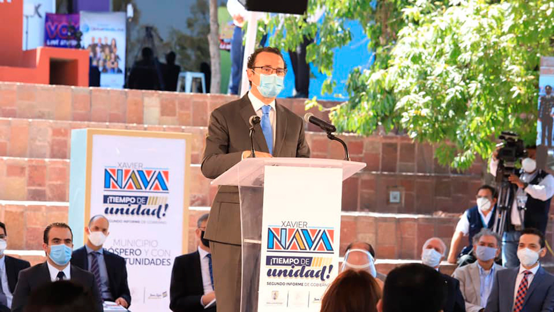 Segundo Informe: El gobierno municipal de San Luis Potosí, encabezado por Xavier Nava, emprendió programas por el COVID-19