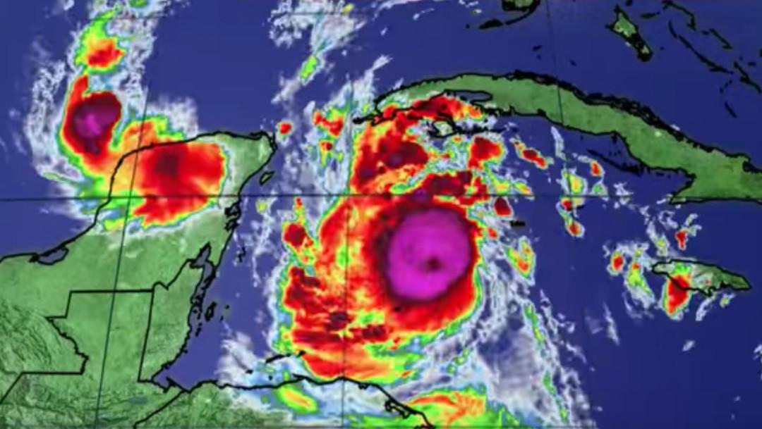 Huracán Delta, clima, Quintana Roo, Cancún
