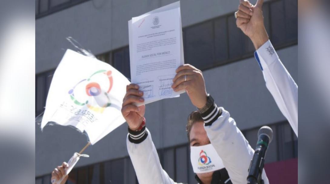 INE entrega registro a Fuerza Social por México