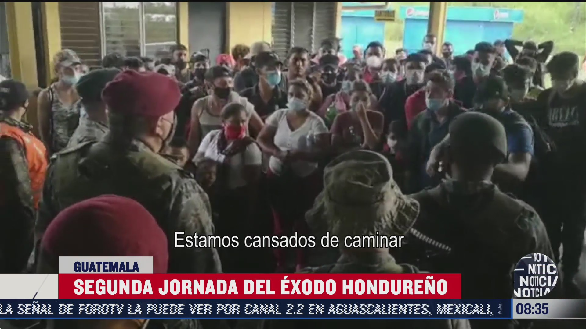 integrantes de caravana migrante siguen varados en guatemala