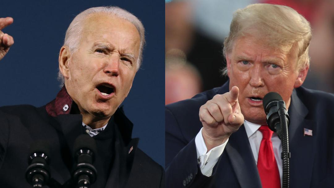 Joe Biden y Donald Trump, candidatos a las elecciones de EUA.