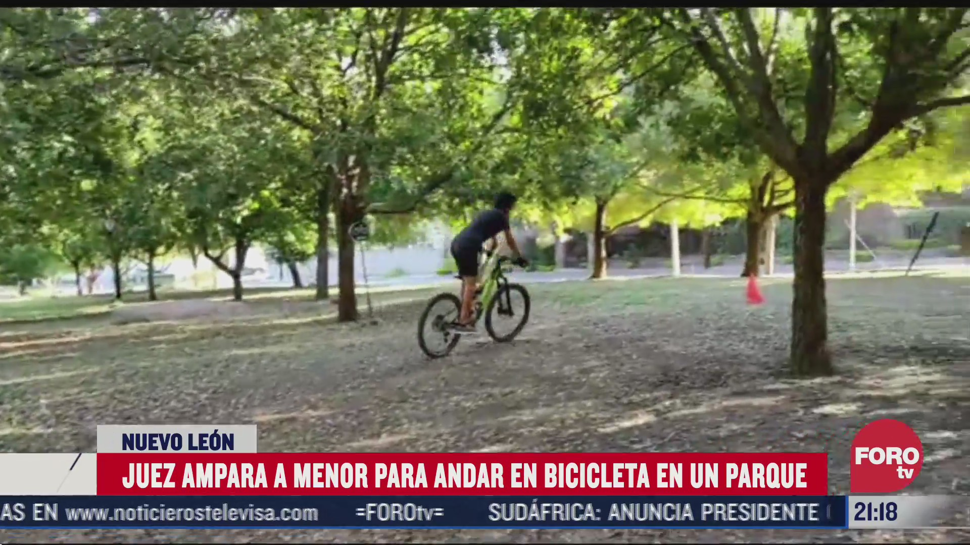 Niño gana amparo para andar en bicicleta en parque de Nuevo León
