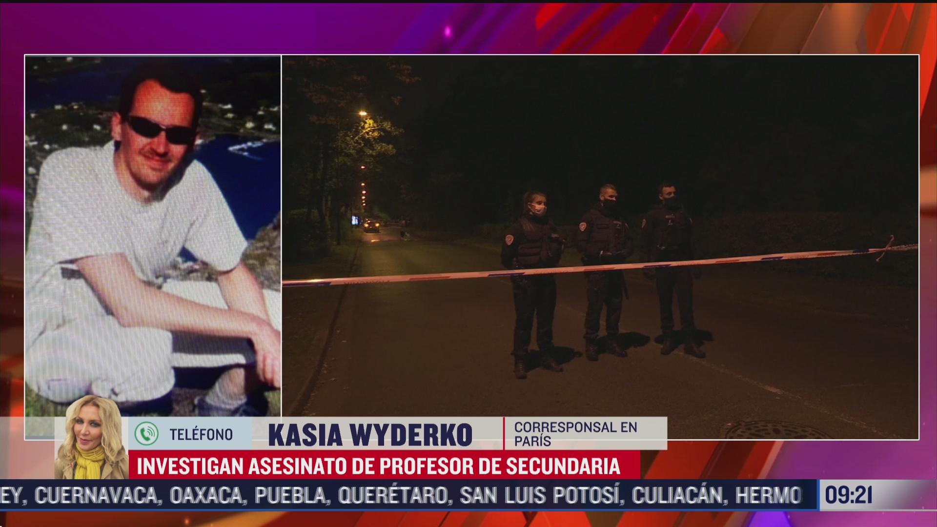 macron califica de ataque terrorista islamista el asesinato de un profesor