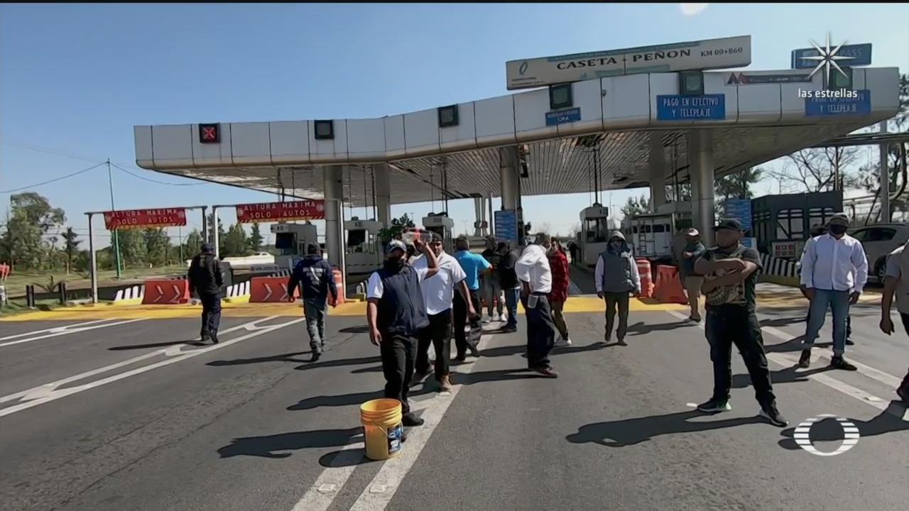 manifestantes toman caseta penon texcoco y exigen liberacion de activista