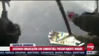 marina asegura embarcacion con guachicol