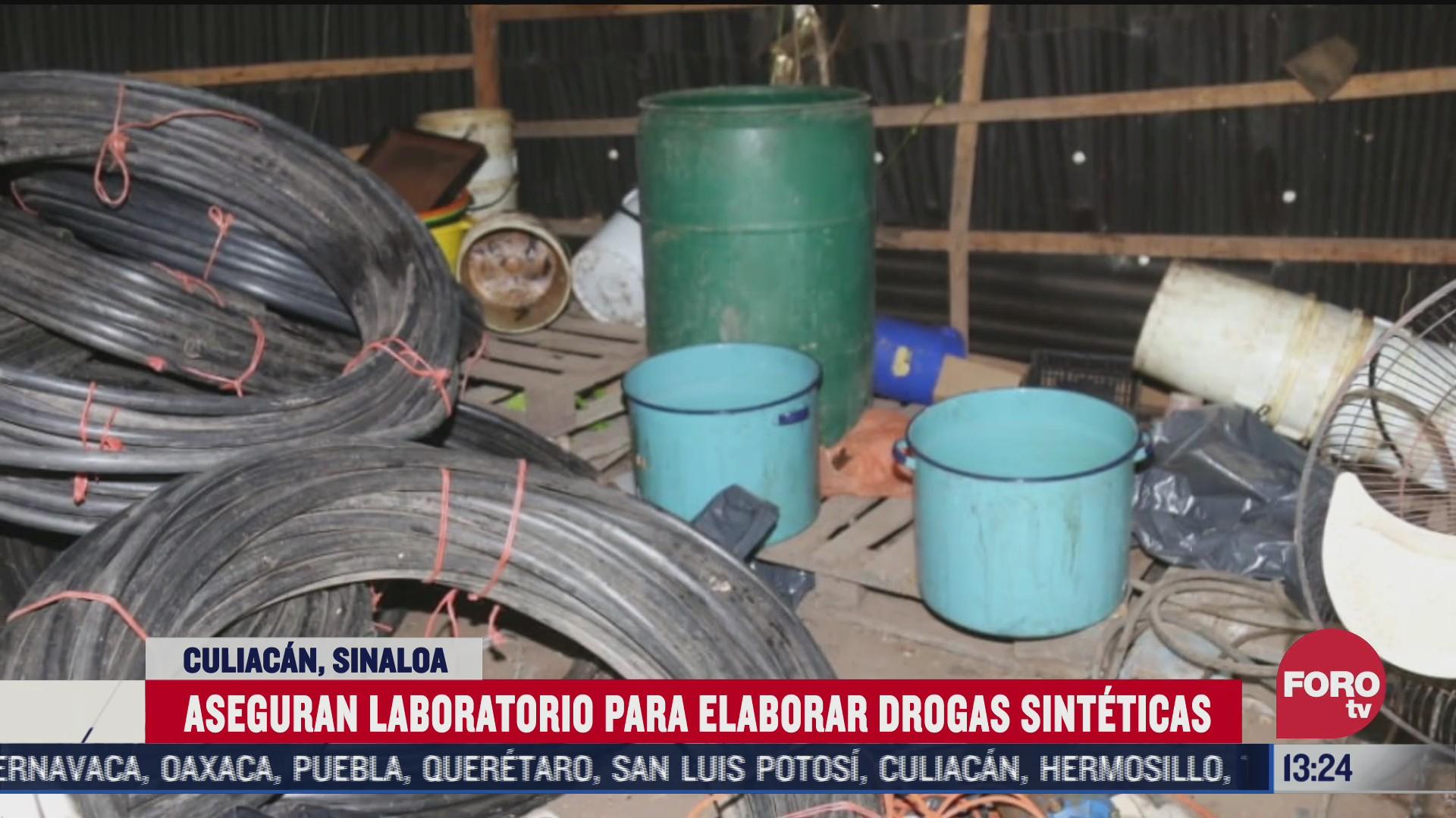 militares y policia aseguran laboratorio de drogas en culiacan