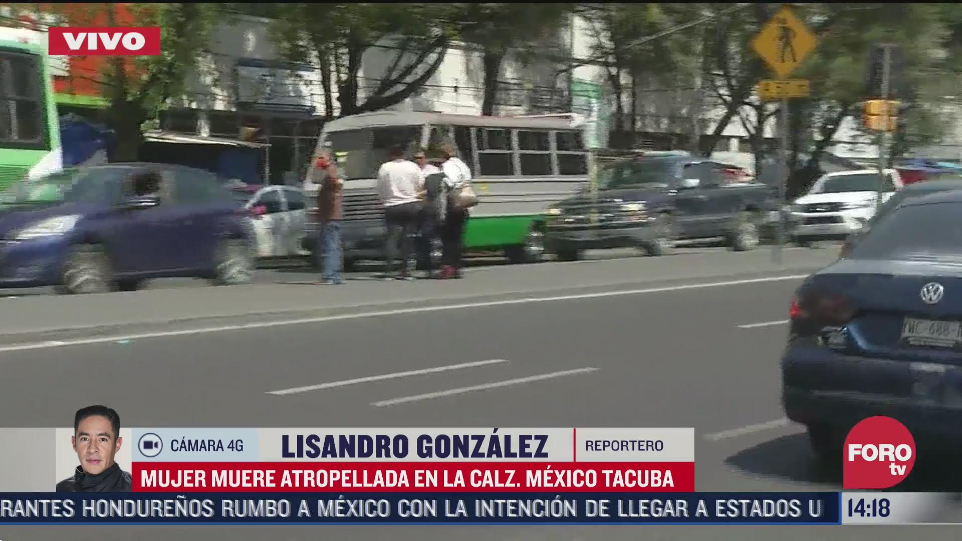 muere mujer atropellada en la mexico tacuba