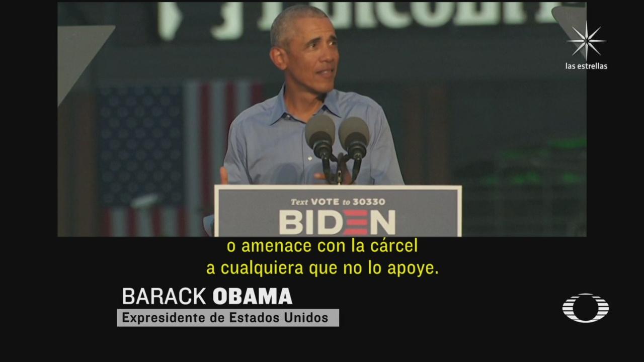 obama arremete contra trump durante mitin de joe biden