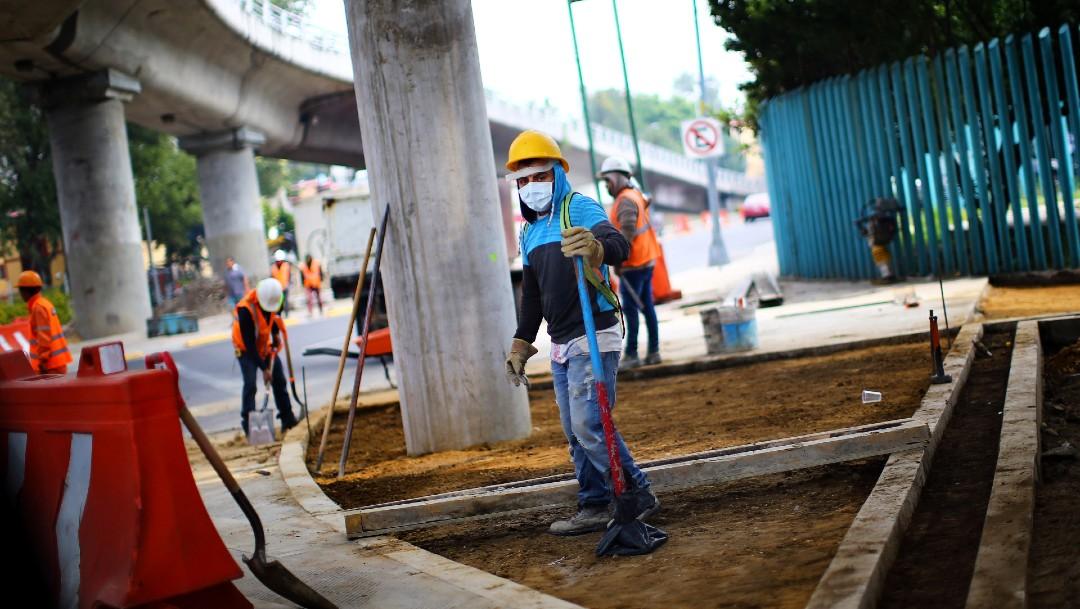 Obreros de la construcción en México