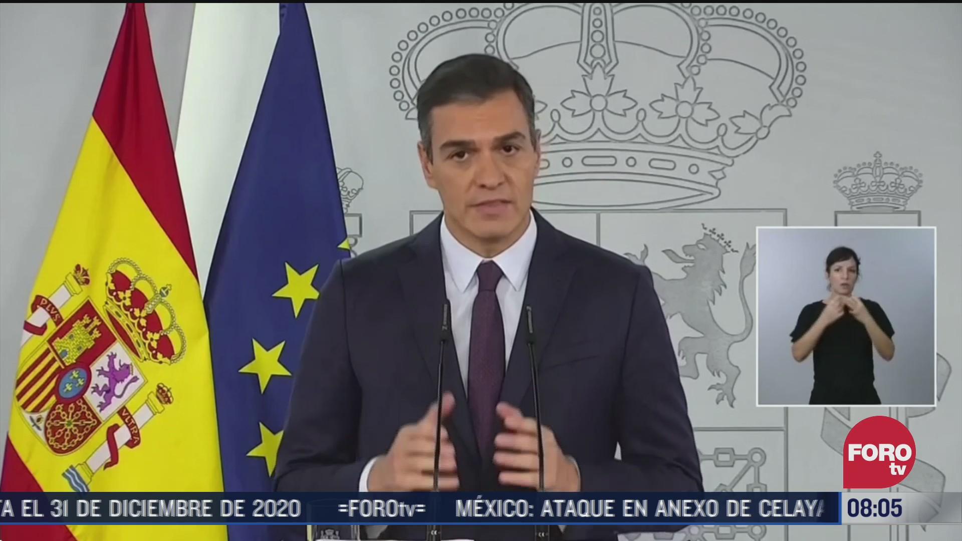 pedro sanchez solicita un nuevo estado de alarma por covid 19 en espana