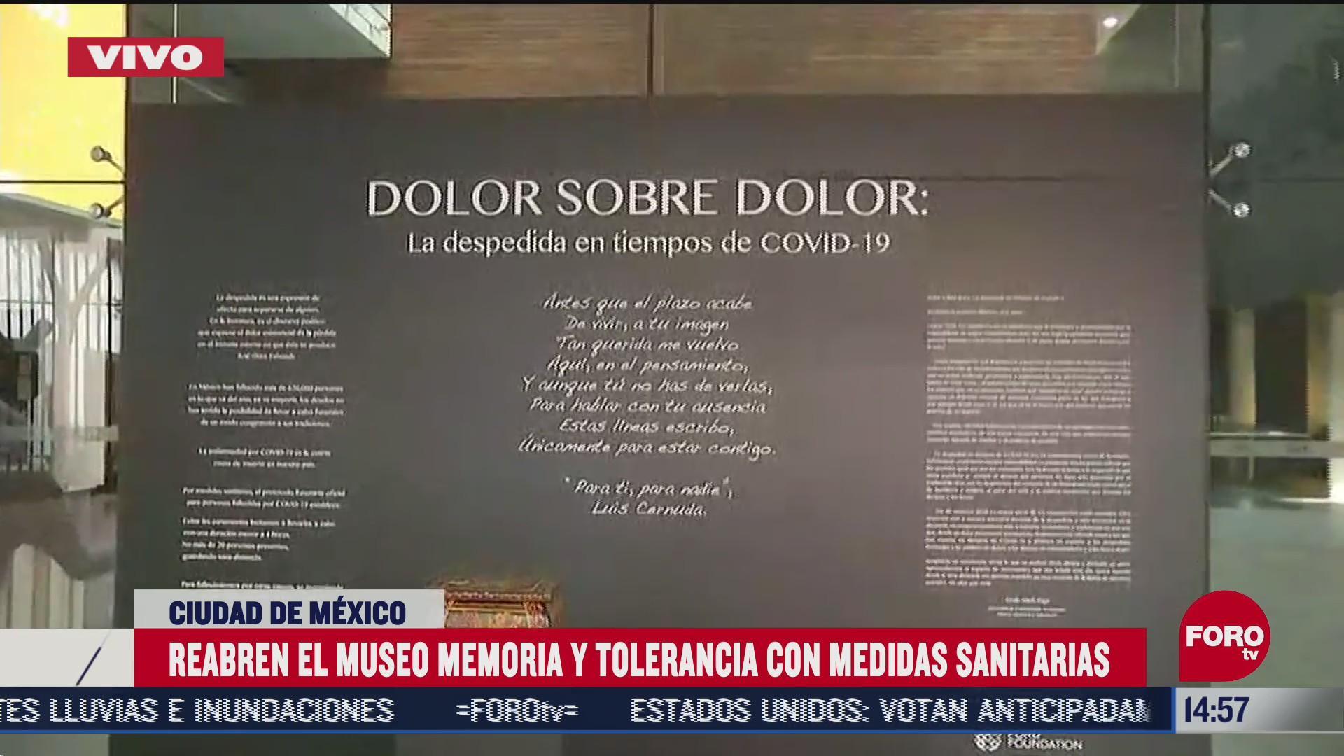 reabren museo de memoria y tolerancia en cdmx