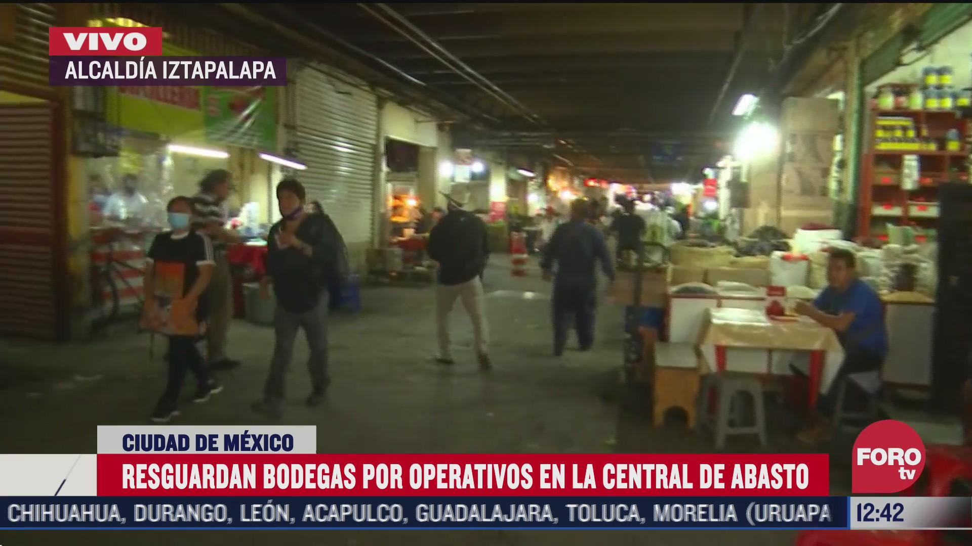 resguardan bodegas por operativos en le central de abasto