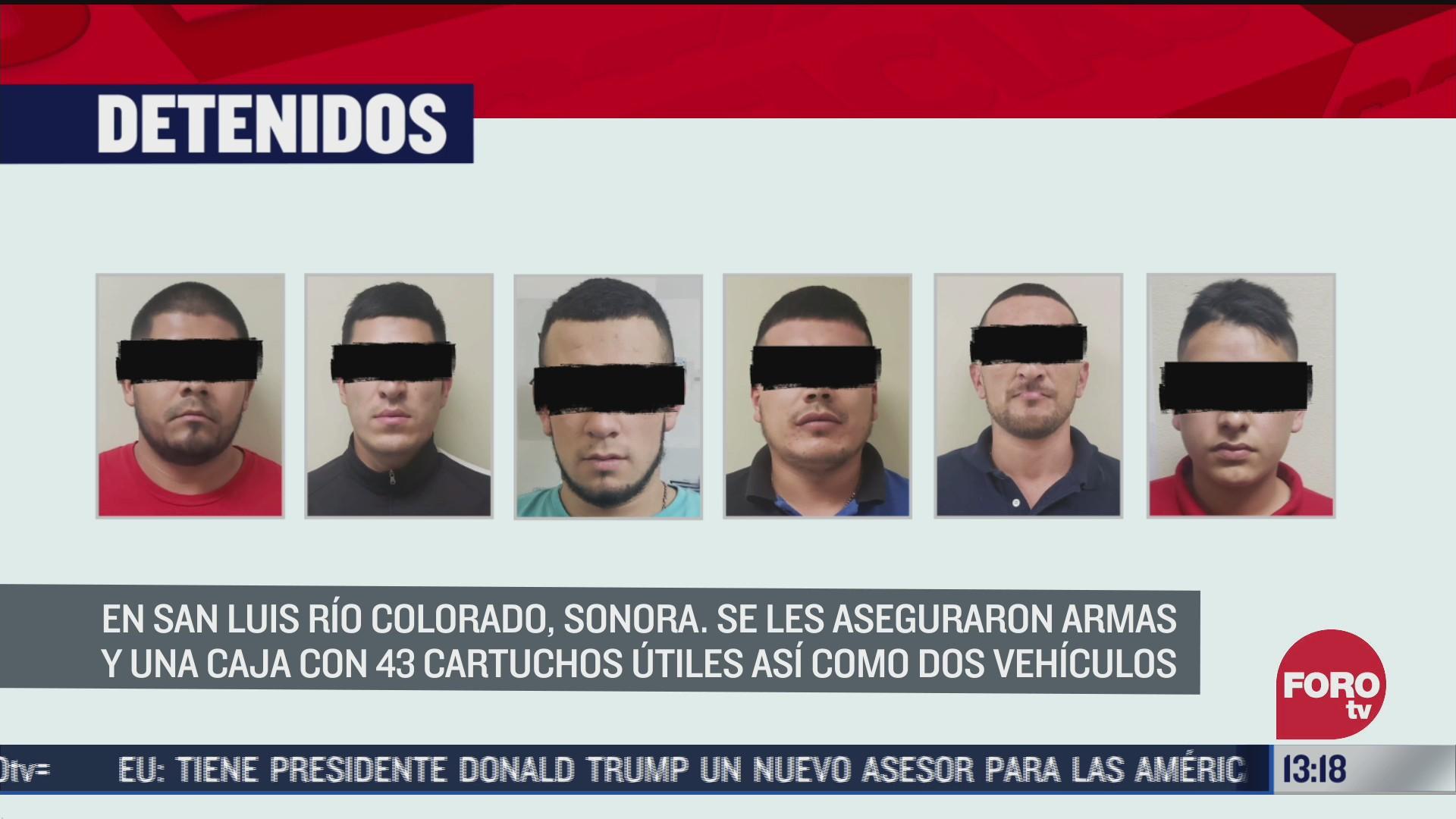 seis detenidos por portacion de armas en sonora