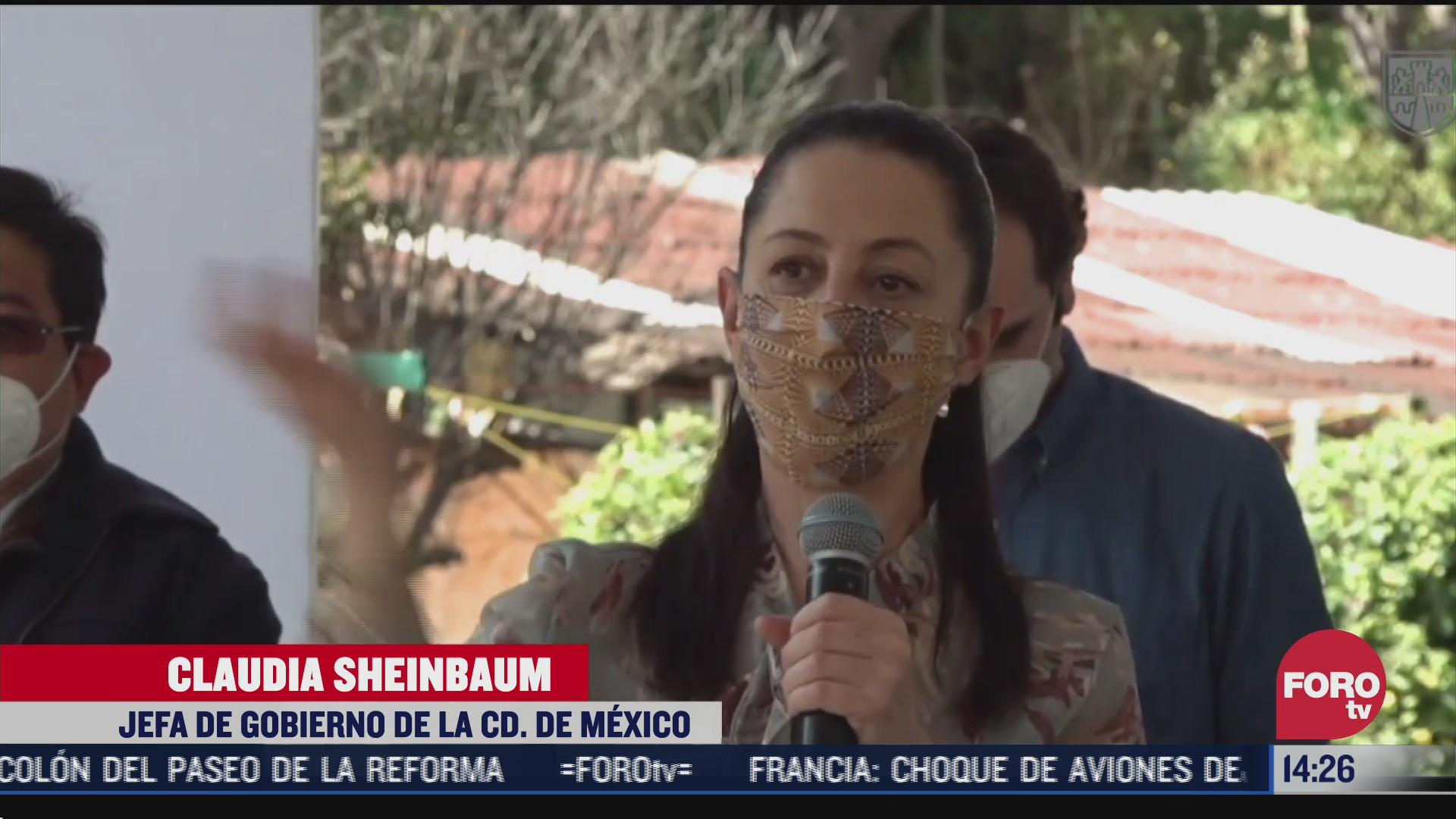 sheinbaum supervisa obra de par vial san gregorio atlapulco