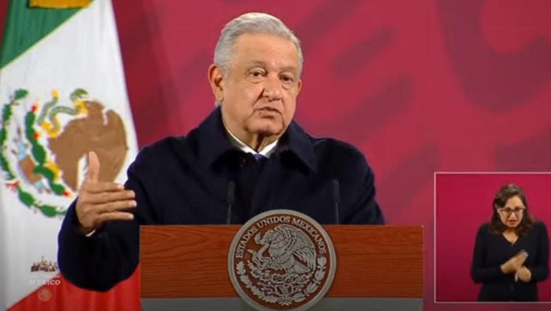 El presidente Andrés Manuel López Obrador en conferencia de prensa desde Palacio Nacional. (Foto: Redes sociales Gobierno de México)