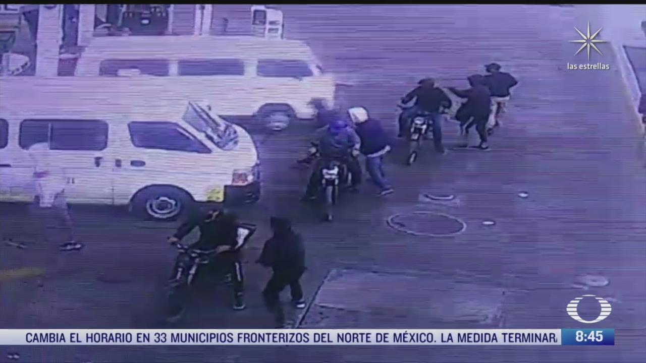 asaltan gasolinera en chimalhuacan