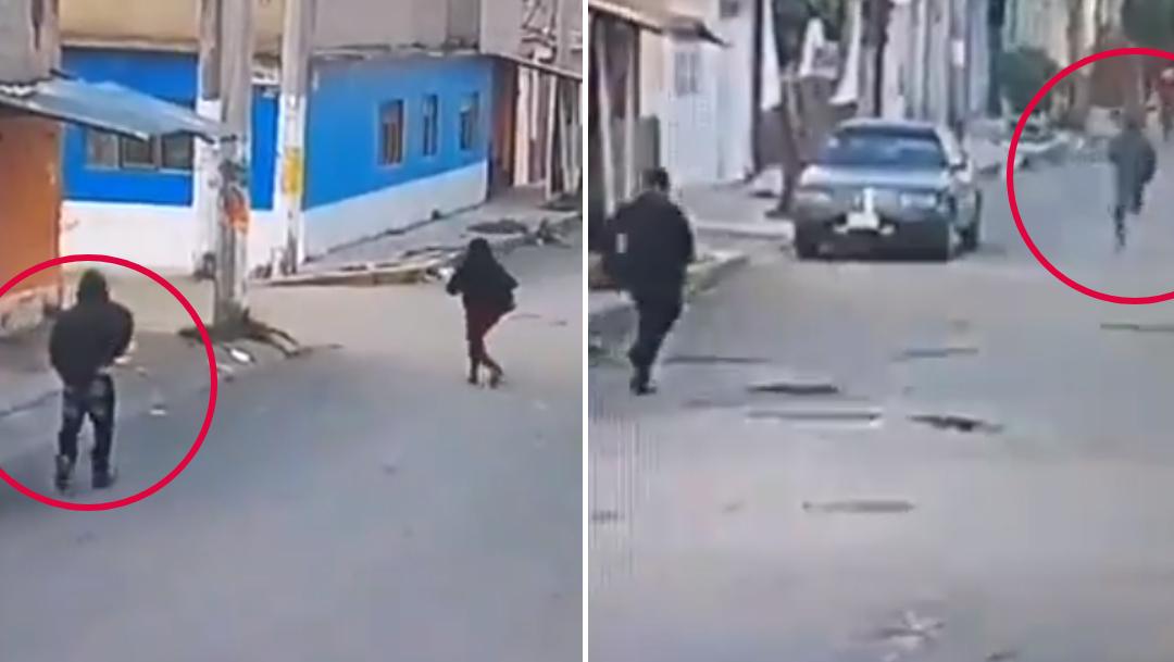 Video: Trata de asaltar a mujer en Ecatepec, pero ella huye