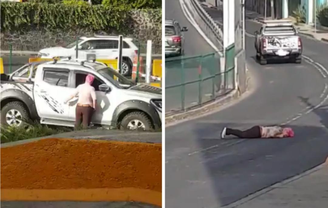 Camioneta atropella a mujer tras un choque en Contreras