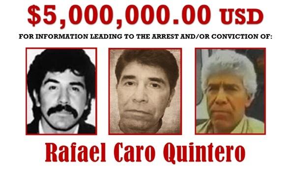 Caro Quintero, de gran capo en los años 80 a el más buscado hoy por la DEA