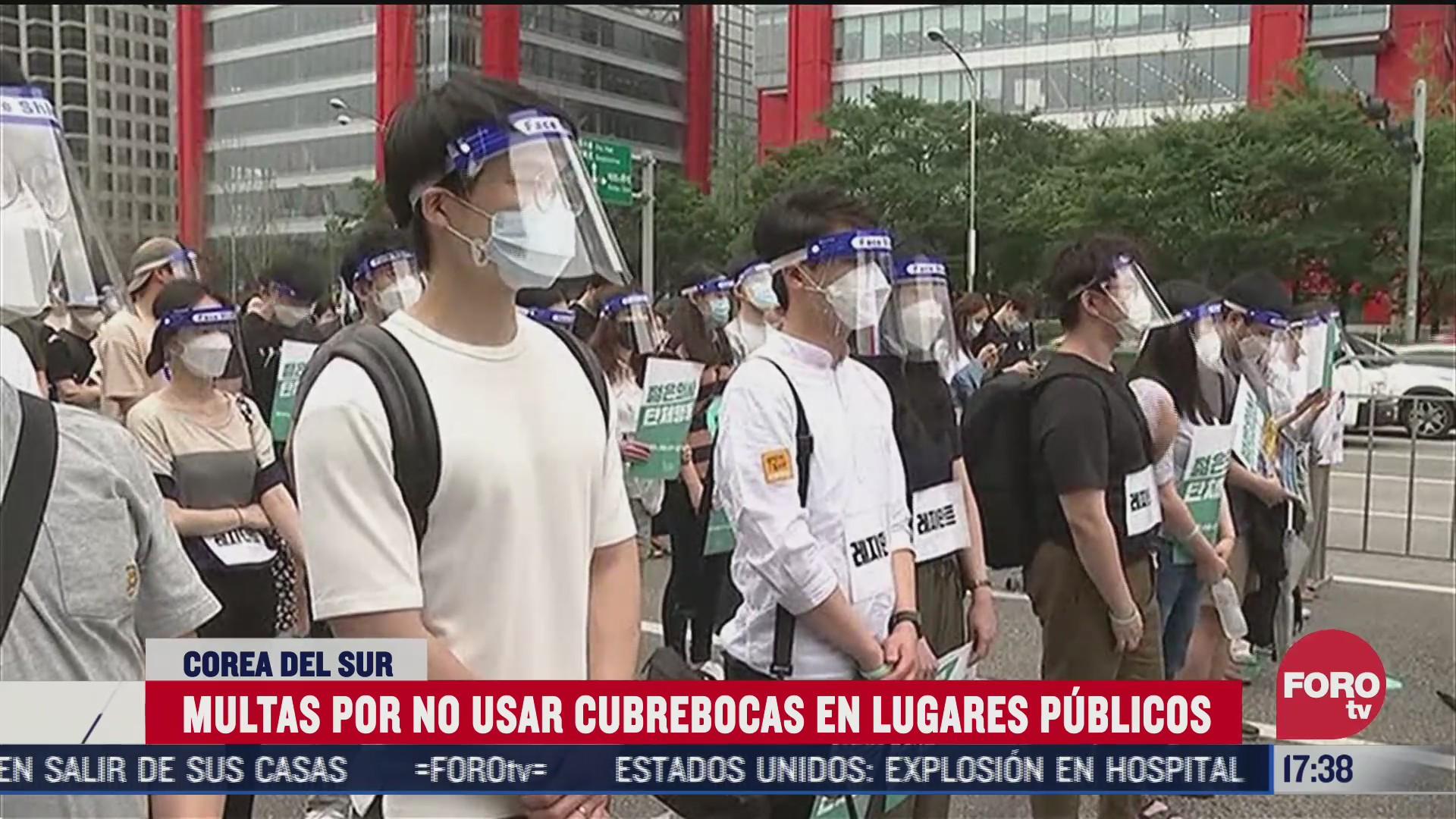 corea del sur impone multas a quienes no usan cubrebocas
