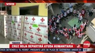 cruz roja repartira ayuda humanitaria a damnificados en tabasco