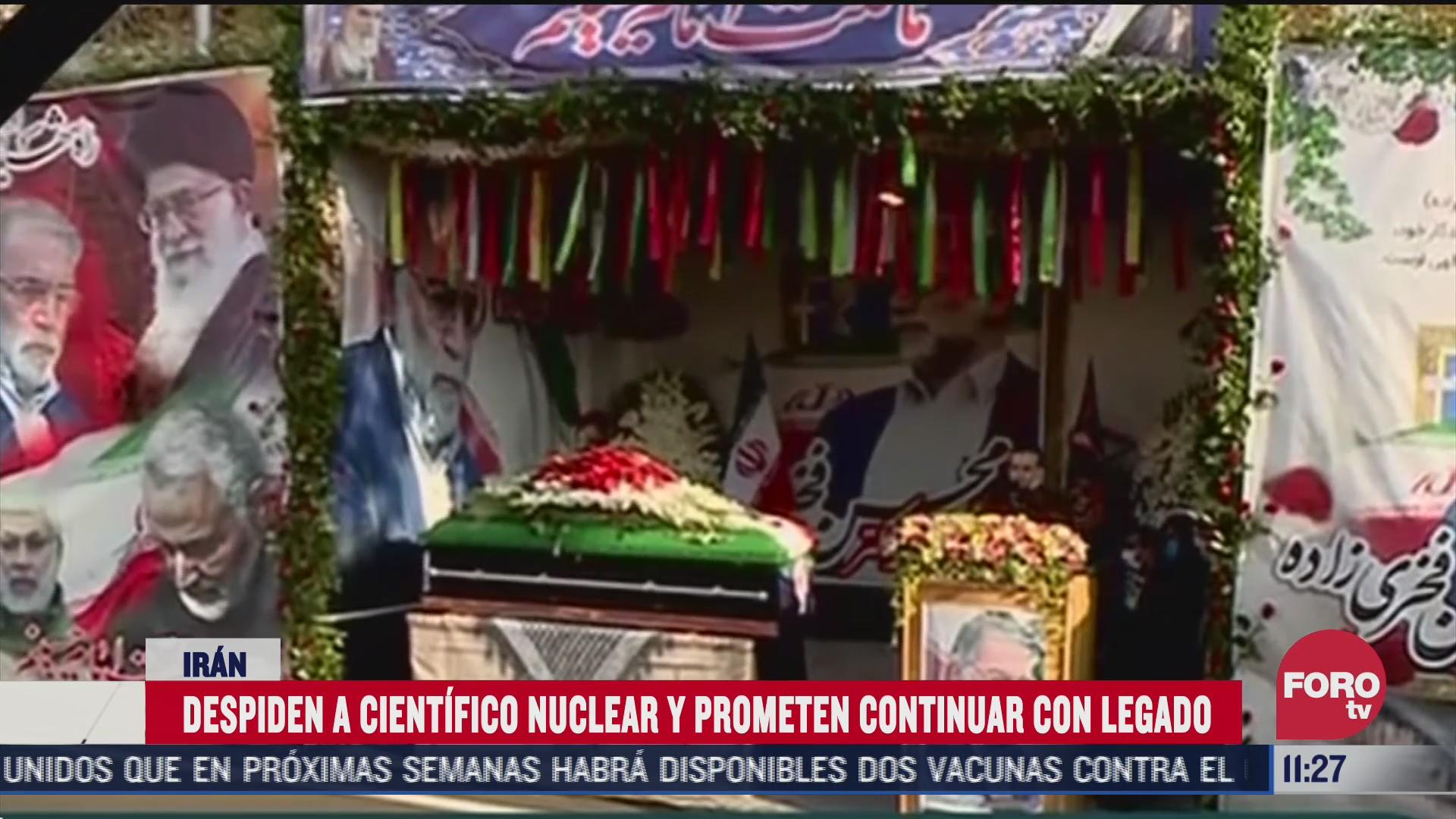 despiden a cientifico nuclear y prometen continuar con legado en iran