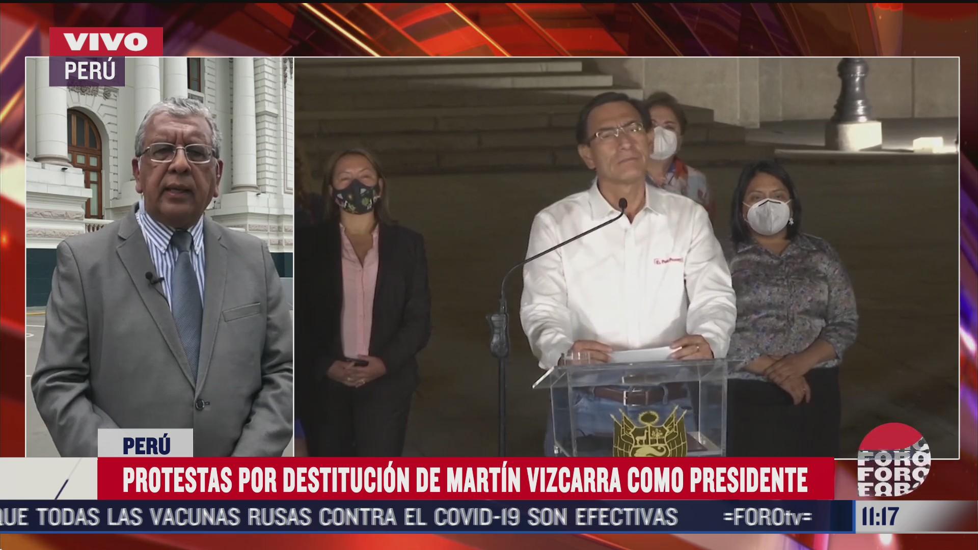 destitucion del presidente de peru desata protestas