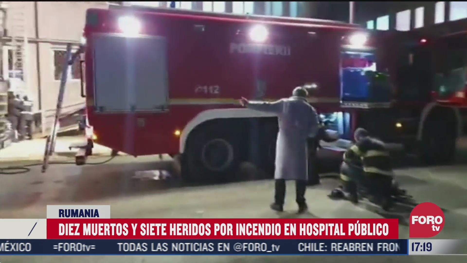 diez mueren tras incendio en hospital de rumania