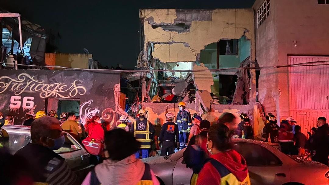 Explosión por acumulación de gas en la colonia Morelos