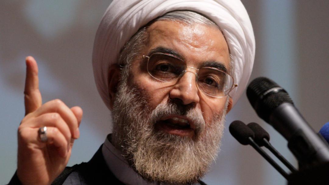 El presidente iraní, Hasan Rohani, durante un discurso