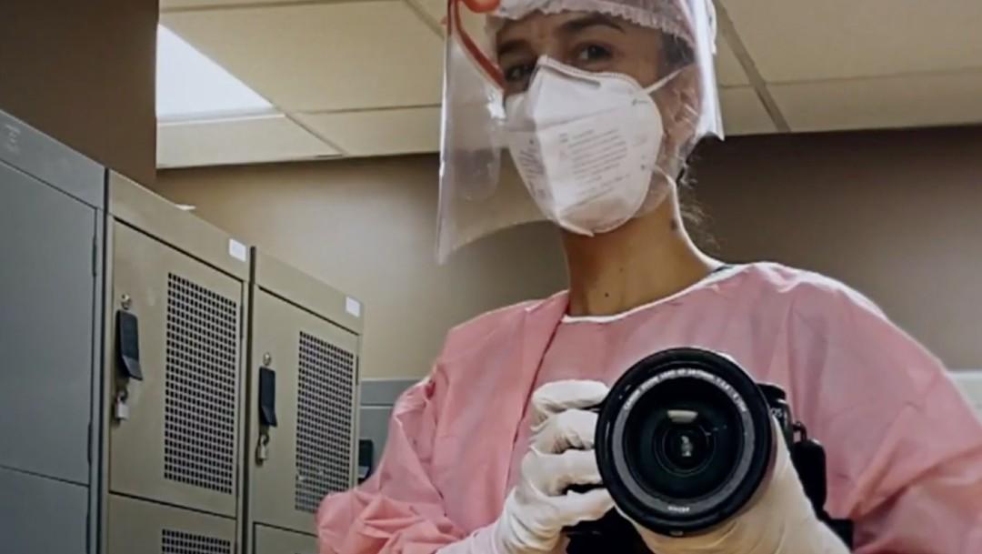 Emotivas imágenes de la pandemia en hospitales de la CDMX, bajo el lente de María Paula Martínez