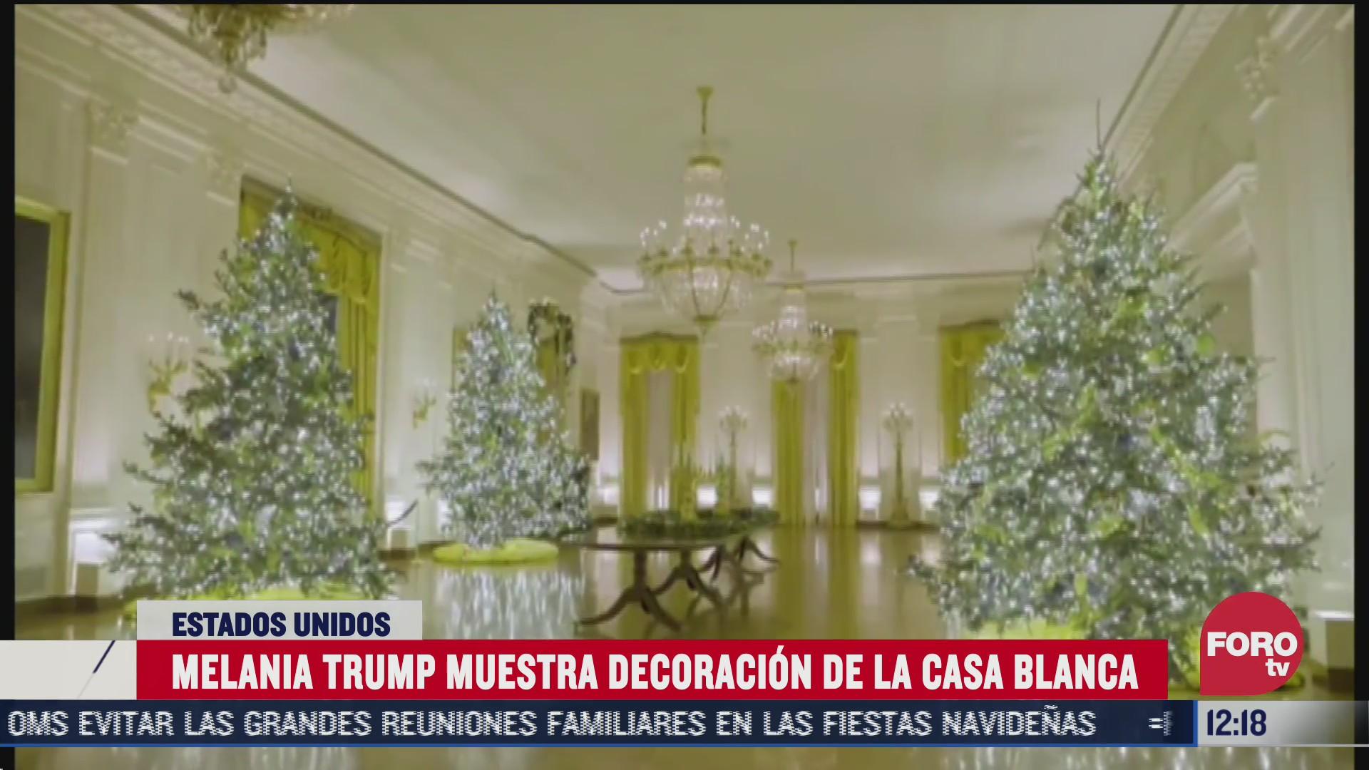 melania trump presenta la decoracion navidena de la casa blanca