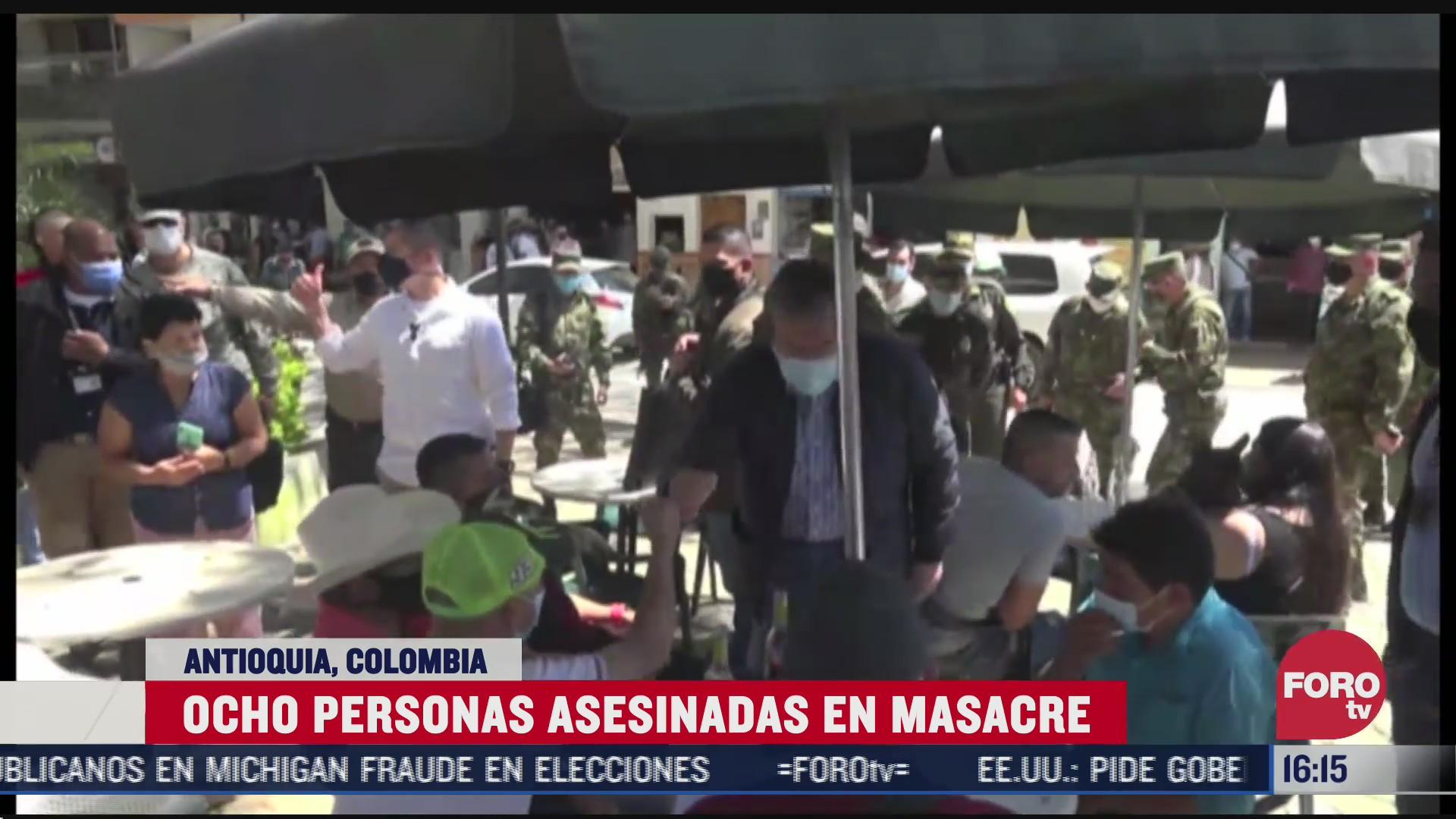 nueva masacre conmociona a colombia