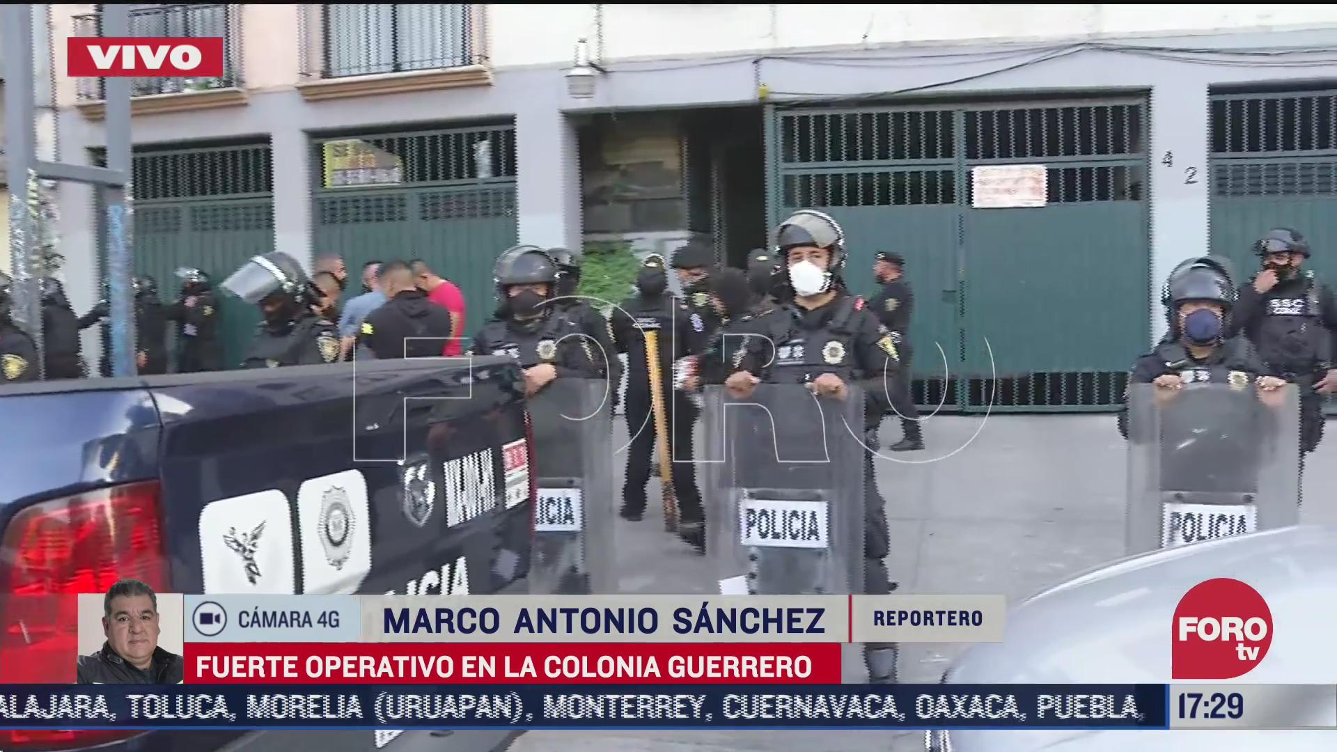policias realizan cateo en departamentos de la colonia guerrero