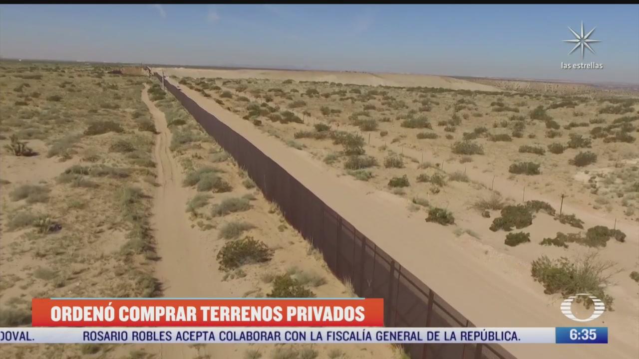 trump compro terrenos privados para construir muro con mexico
