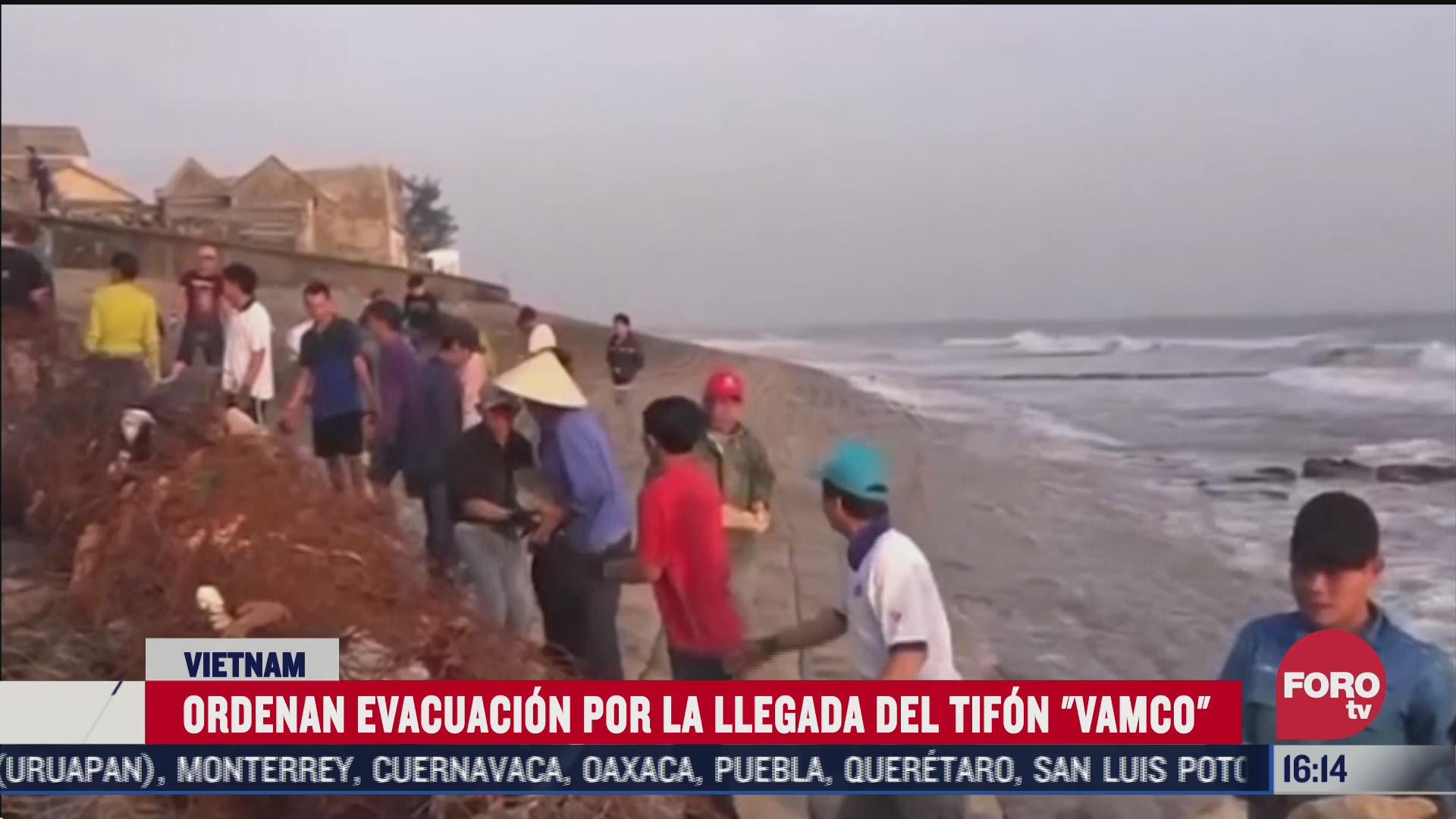vietnam evacua a 460 mil por tifon vamco
