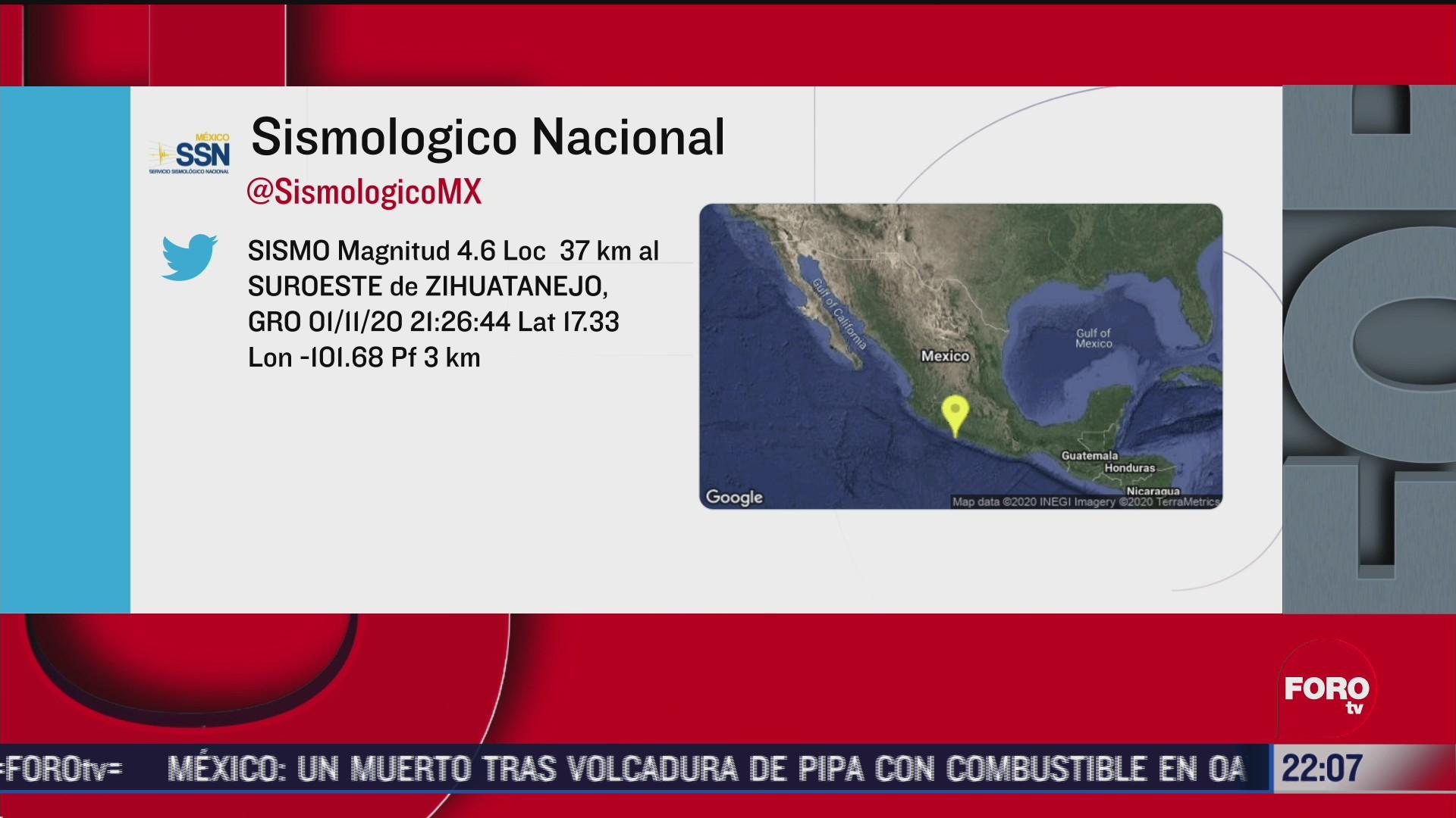 zihuatanejo reporta sismo magnitud